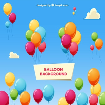Colorful balloons background in the sky