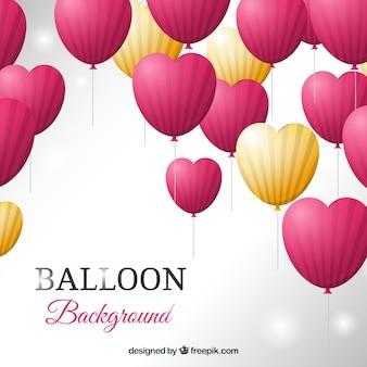 Sfondo di palloncini colorati con forma di cuore