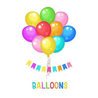 Разноцветные воздушные шары. векторная иллюстрация.