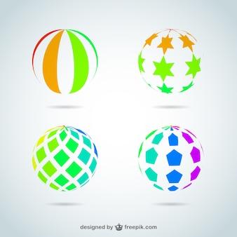 Векторные шары логотип набор