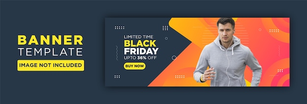 Colorful banner for black friday
