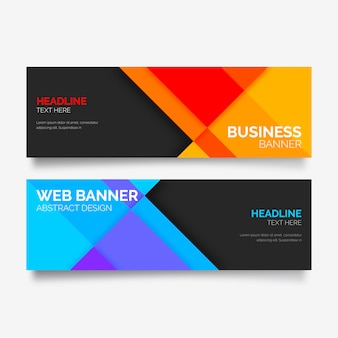 Colorful Banner Collection with Abstract Shapes
