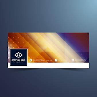 Colorful banner design for facebook timeline