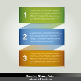 Colorful banner infographic steps