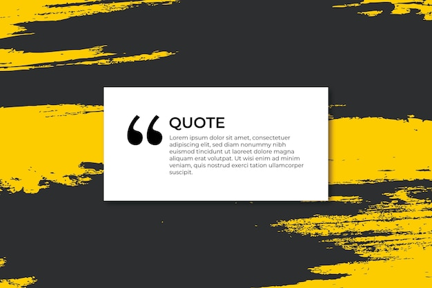 Colorful banner for quote with strokes
