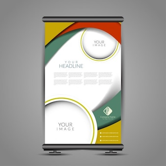 Colorful banner stand tempate