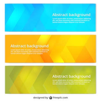 Colorful banner templates
