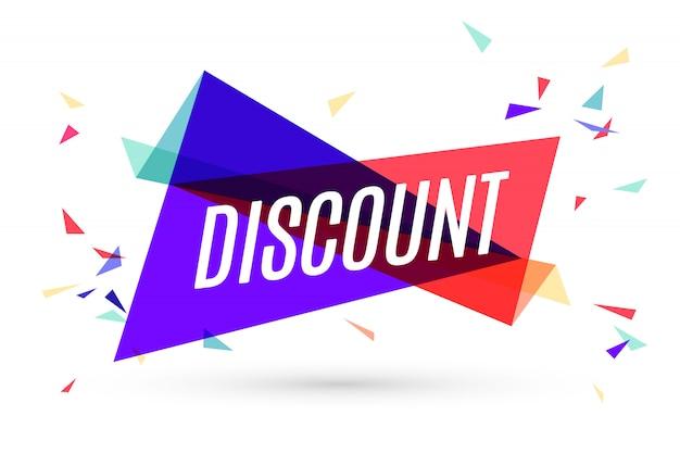Красочный баннер с текстом discount