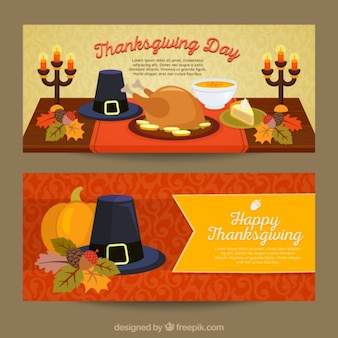 Colorful banners to celebrate thanksgiving