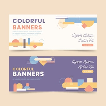 Colorful banners design templates