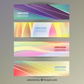 Красочные баннеры в абстрактном стиле