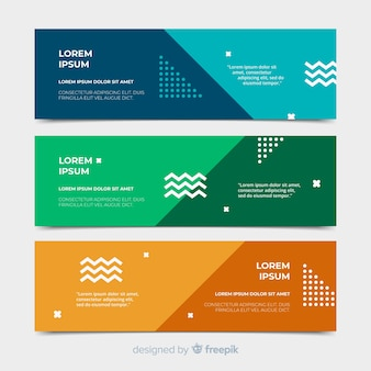 Colorful banners with abstract design