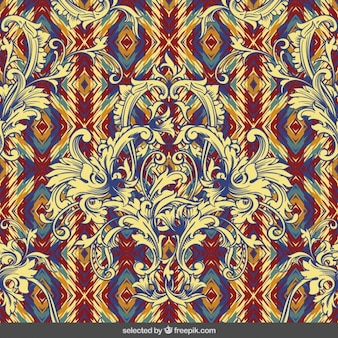Colorful baroque background