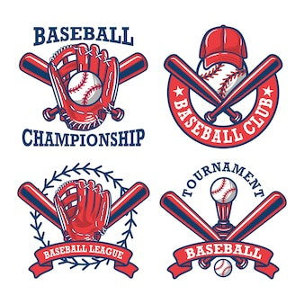 Colorful  baseball logo and insignias collection