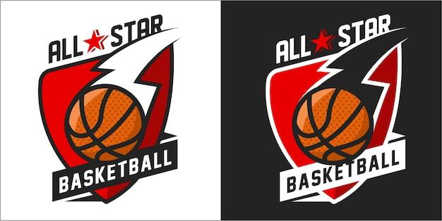 Colorful basketball logo
