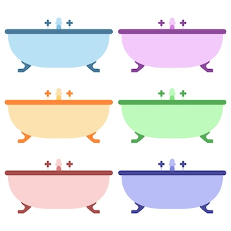 Colorful bath up element icon game asset flat illustration