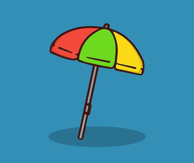 Colorful beach umbrellas in summer