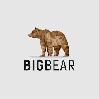 Colorful bear animal logo design