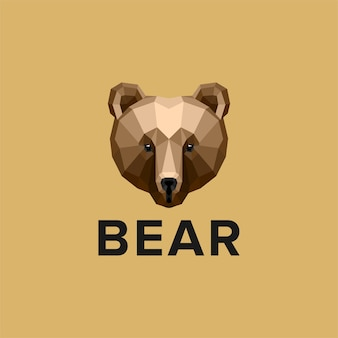 Colorful bear head logo design