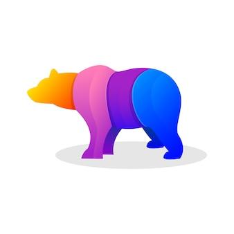 Colorful bear illustration
