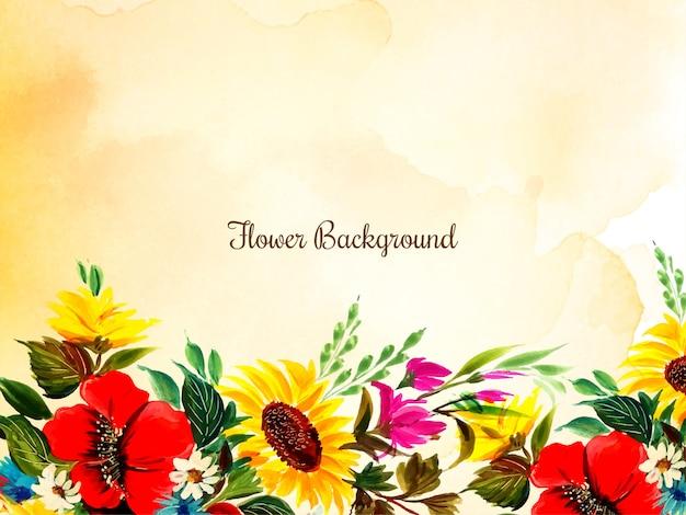 カラフルな美しい装飾花の背景