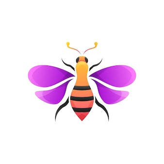 Colorful bee modern illustration