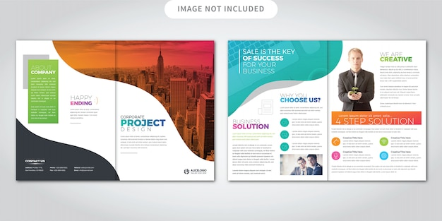 Colorful bi-fold brochure