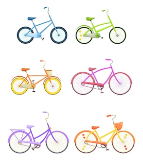 Colorful bicycles illustration