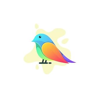 Colorful bird design illustration