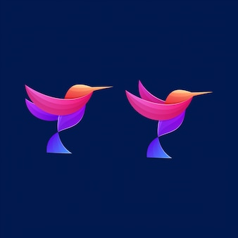 Colorful bird icon