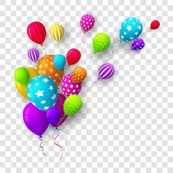 Красочные воздушные шары на день рождения