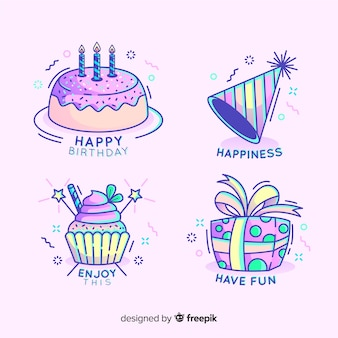 Colorful birthday composition with lovely style