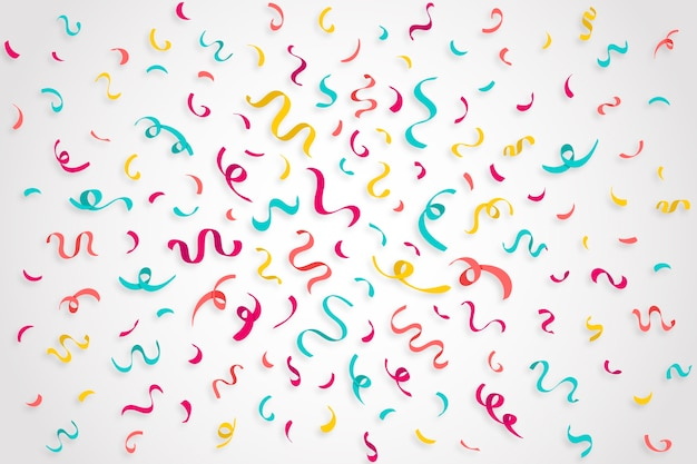 Colorful birthday confetti background