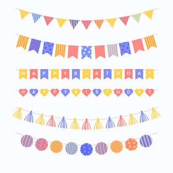 Colorful birthday decoration