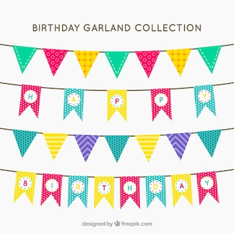 Colorful birthday garlands with great designs