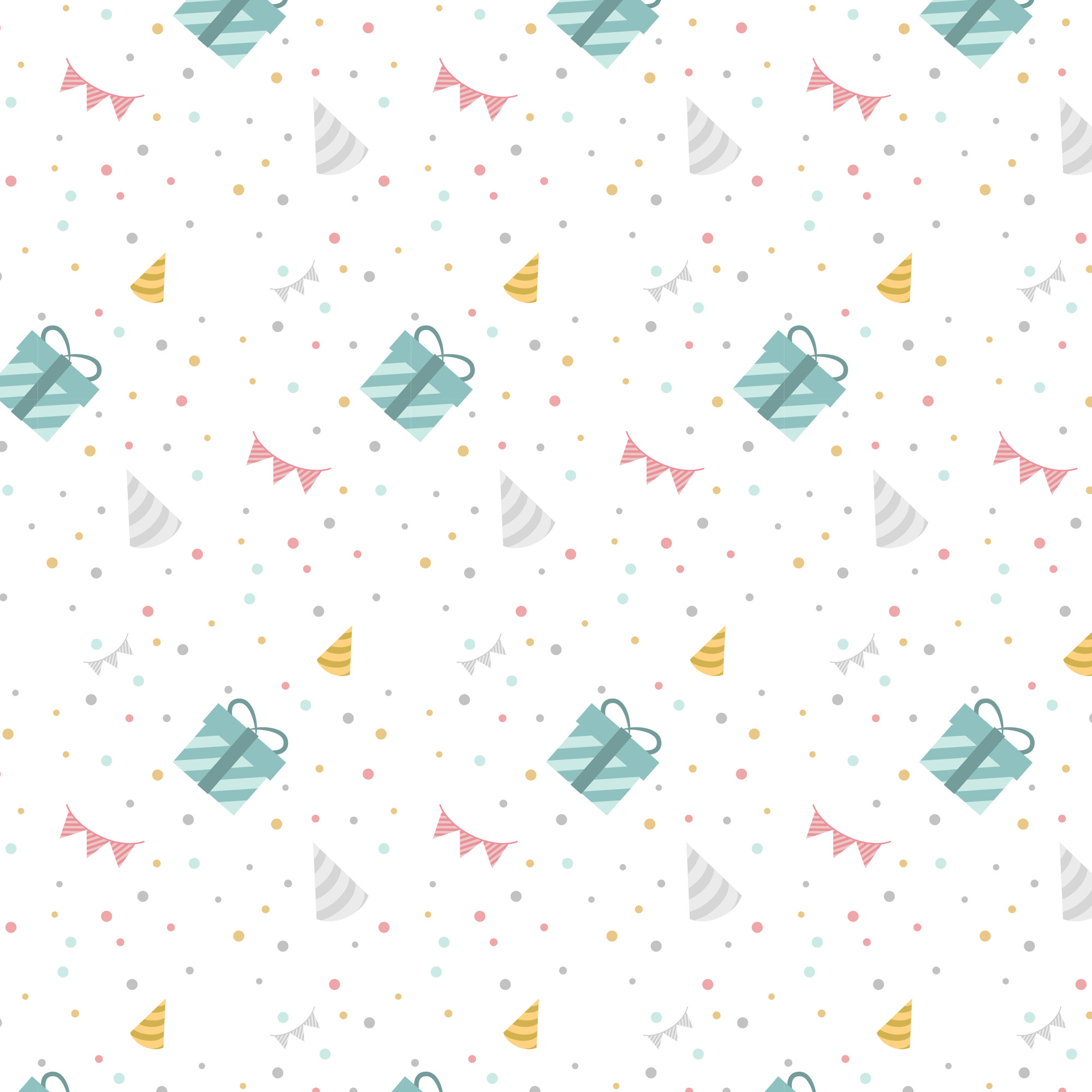 Colorful birthday polka dot vector