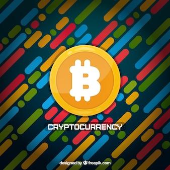 Sfondo colorato bitcoin