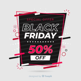 Colorful black friday in flat design