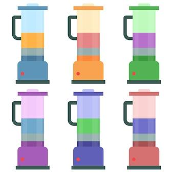 Colorful blender machine element icon game asset flat illustration