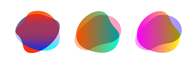 Colorful blob shape abstract shape set