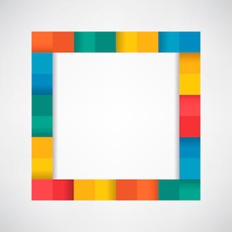 빈 흰색 배경 벡터에 화려한 블록