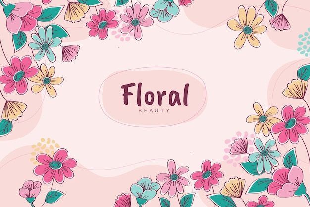 Colorful blooming floral background