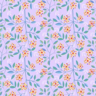 色とりどりの花の花ベクターデザインのシームレスパターン。