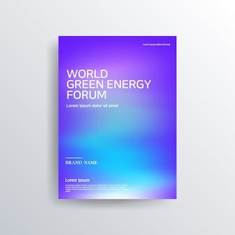 Colorful blue purple brochure