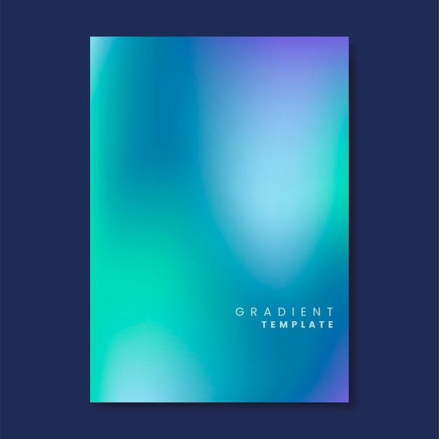 Colorful and blurred gradient template