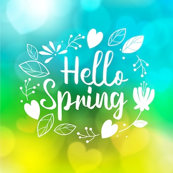 Colorful blurred spring background
