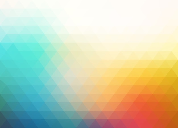 Colorful blurry triangle background