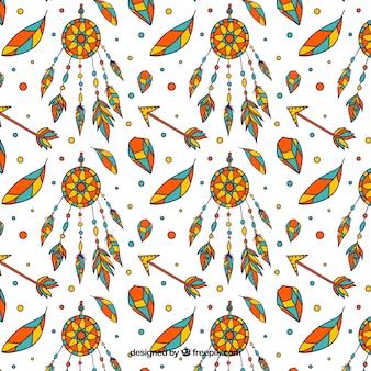カラフルなボウホンパターン