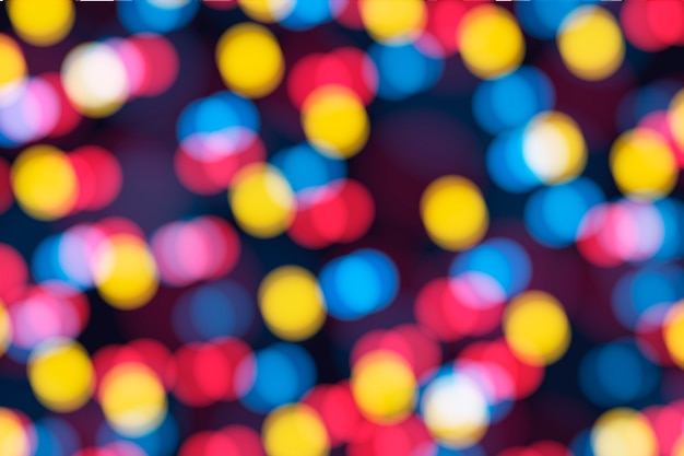Colorful bokeh background with light