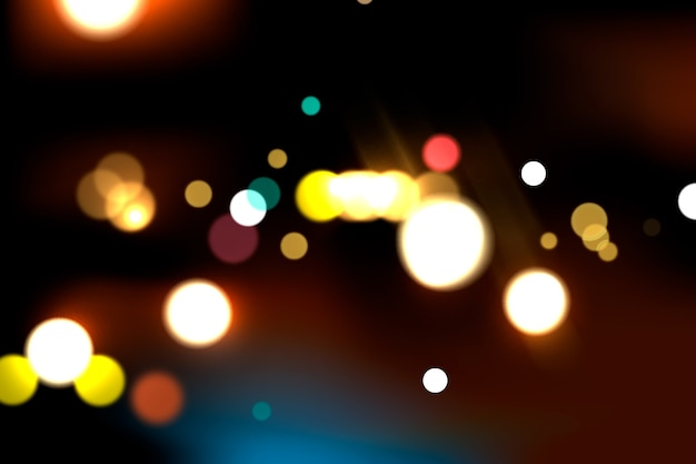Colorful bokeh effect on dark background